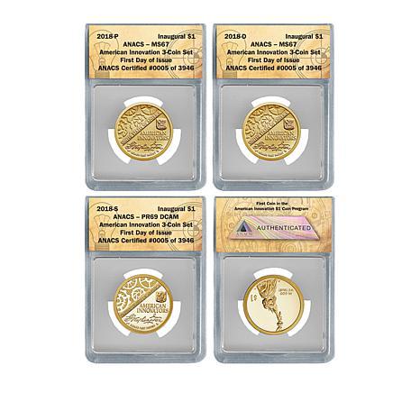2018 MS67/PR69 FDOI LE 3,946 American Innovation Coins - Auto-Ship®