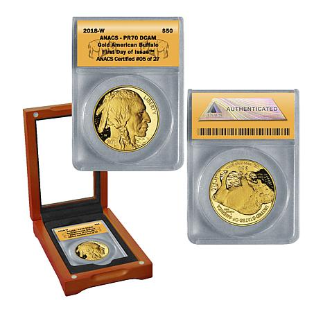 2018 PR70 DCAM First Day of Issue LE of 27 $50 Gold Buffalo Coin
