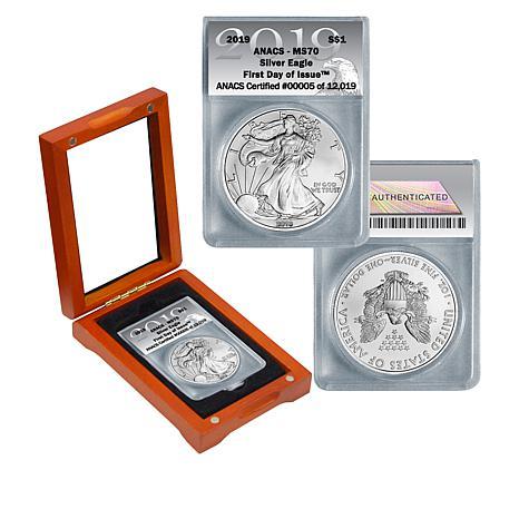 2019 MS70 ANACS FDOI LE 12,019 Silver Eagle Dollar Coin
