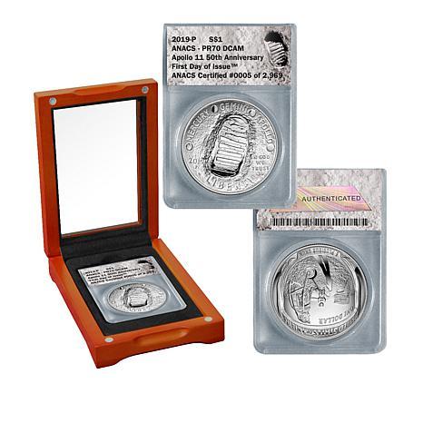 2019-P PR70 FDOI LE 2969 Apollo 11 50th Anniversary Silver Dollar Coin