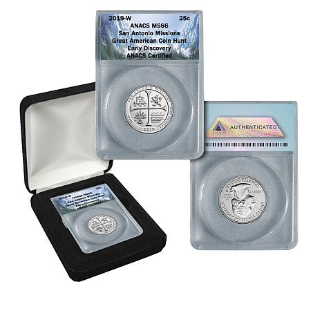 2019 W Texas San Antonio Missions NP Quarter 25c NGC MS 66 First Releases