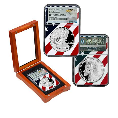 """2019-W PF70 NGC """"Early Releases"""" Ultra Cameo Silver Eagle  Dollar Coin"""