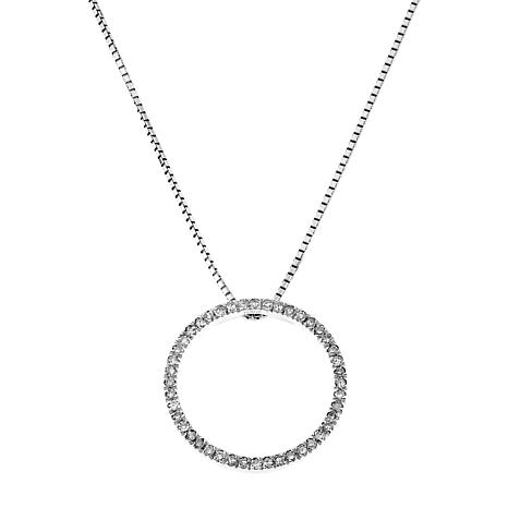 20ctw diamond circle sterling silver pendant with 18 chain necklace 20ctw diamond circle pendant with 18 chain aloadofball Images