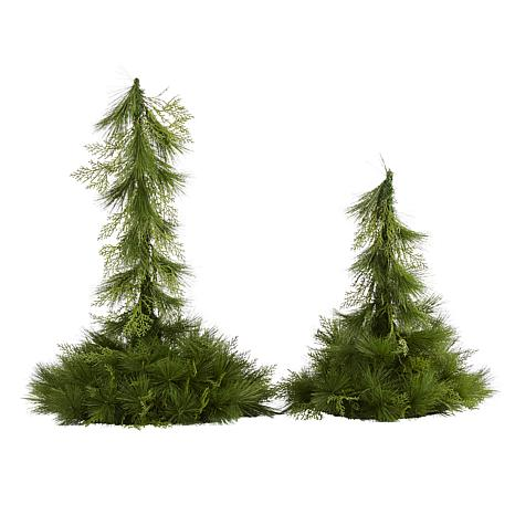 24 In And 36 In Table Top Hanging Artificial Christmas Decor Set Of 2 9828094 Hsn