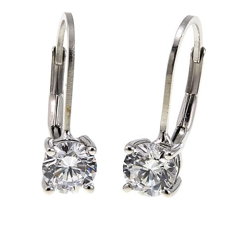 2.50ctw Absolute™ Sterling Silver Round Leverback Earrings