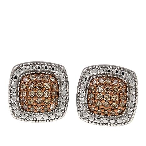 jewelry colored silver stud half micropave earrings bling mens par cz tone square sls two