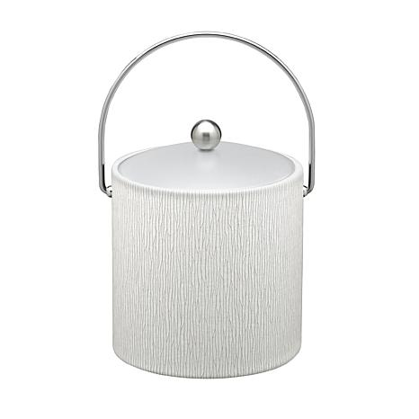 3-Quart Textured Ice Bucket with Frosted Lucite Lid