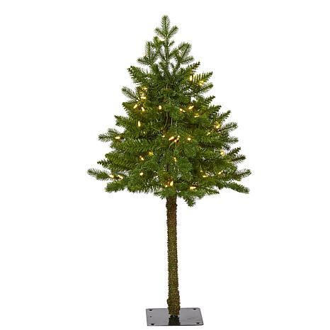 3' Swiss Alpine Artificial Christmas Tree with 50 Clear LED Lights ...