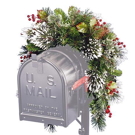 3' Wintry Pine Mailbox Swag