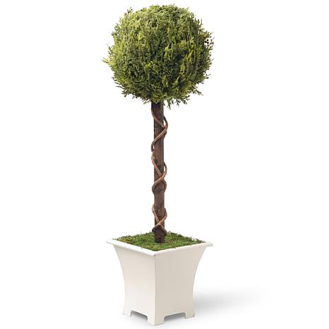 "30"" Artificial Single Ball Topiary Tree"
