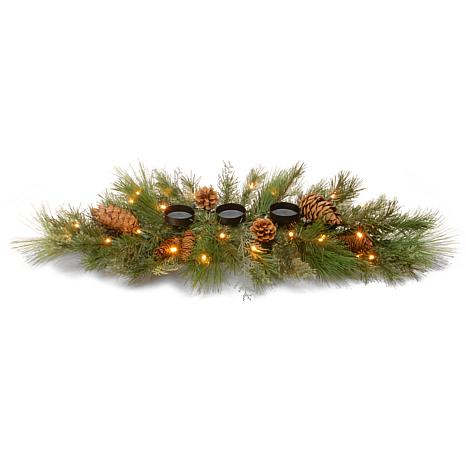 "30"" Decorative Coll. Pine Centerpiece w/LEDs"