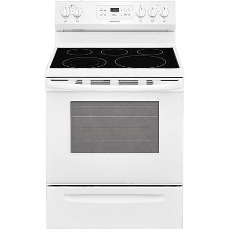 30 In. Freestanding Electric Range - White
