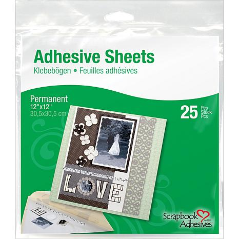 "3L 25-pack 12"" x 12"" Permanent Adhesive Sheets"