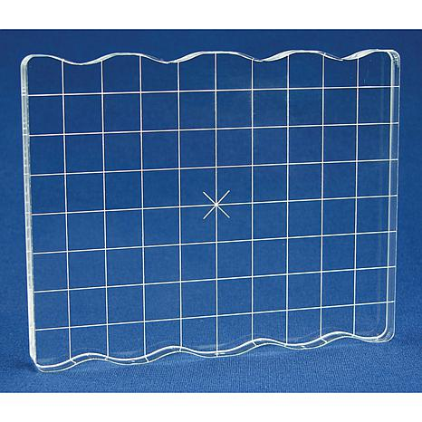 "4"" x 5"" Acrylic Stamp Block with Grip and Alignment Grid"