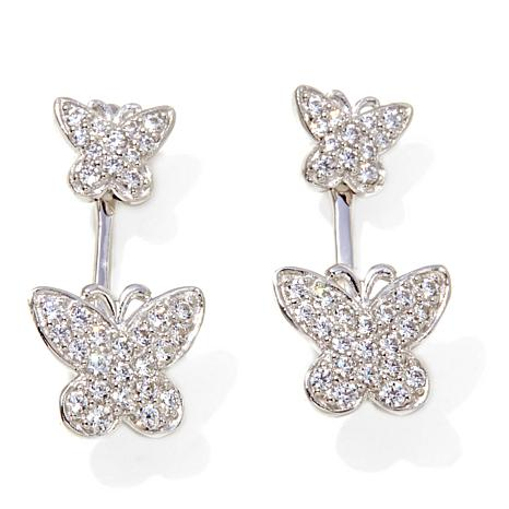 .62ctw Absolute™ Butterfly Stud and Ear Cuff Earrings