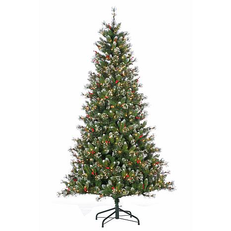 7-1/2' Glazier Pine Tree with Iced Tips - 500 Clear Lights