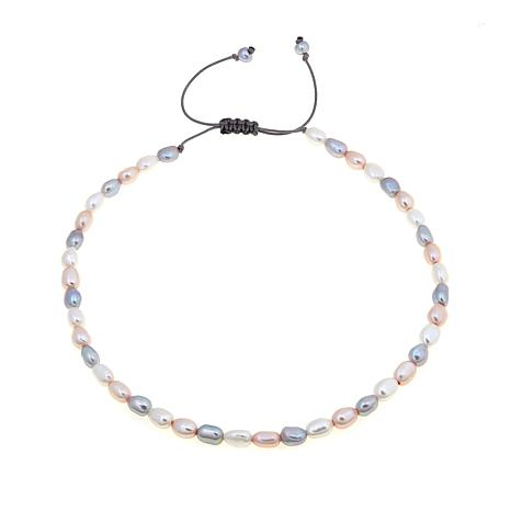 7-9mm Cultured Freshwater Pearl Macramé  Necklace