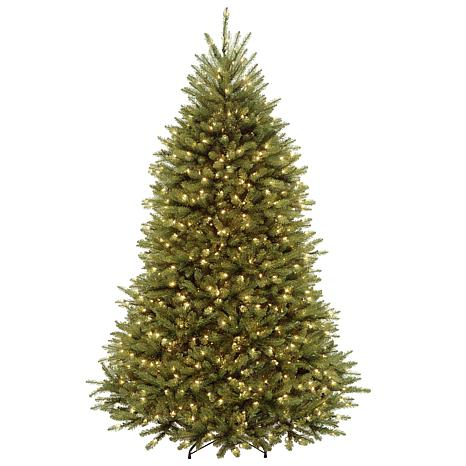 7.5' Dunhill Fir Hinged Tree with LED Lights