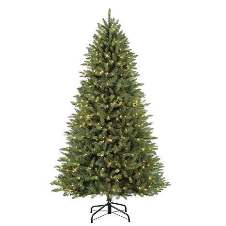 7.5' Narrow Franklin Fir Artificial Christmas Tree - 600 Clear Lights