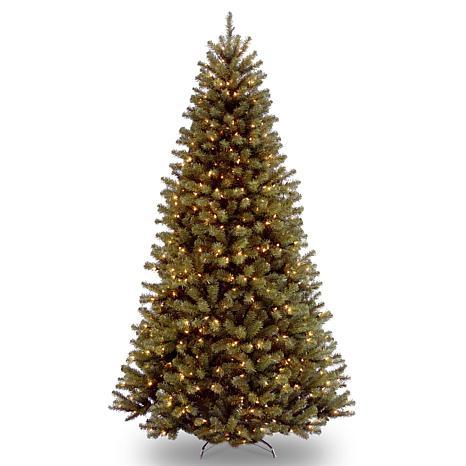 9' N. Valley Spruce Hinged Tree w/Lights