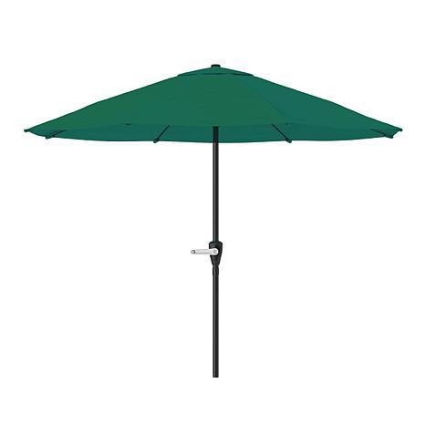 Merveilleux 9u0027 Patio Umbrella With Easy Crank   Hunter Green