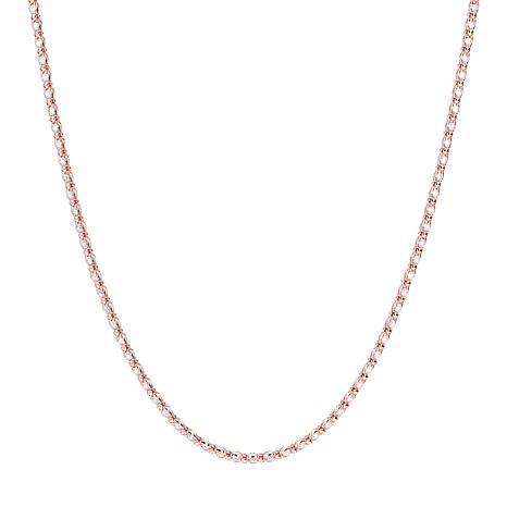 """Absolute™ 18"""" Sterling Silver Cubic Zirconia Caged Tennis Necklace"""
