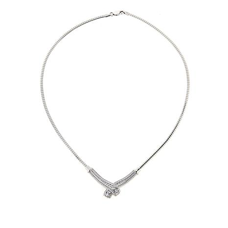 exclusive! Absolute™ 1 80ctw CZ Sterling Silver Bypass 17