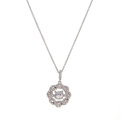 Absolute™ 1.87ctw CZ  Braided Halo Pendant