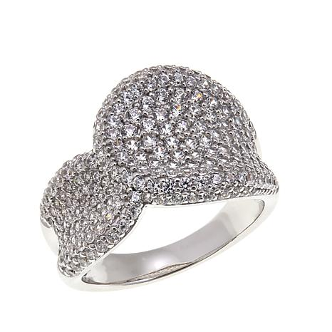 Absolute™ 2.04ctw Cubic Zirconia Sterling Silver Saddle Ring