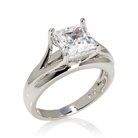 Absolute™ 2ct Cubic Zirconia Sterling Shank Ring
