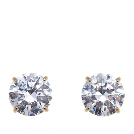 Absolute™ 2ctw Cubic Zirconia 14K Round  Stud Earrings