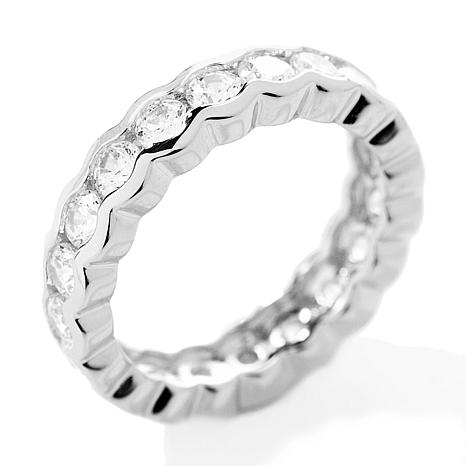 etsy diamond ring brilliant ct bands bezel half cut il tw set semi eternity band market