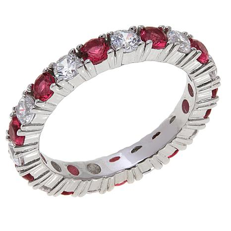 Absolute™ CZ and Simulated Ruby Eternity Ring