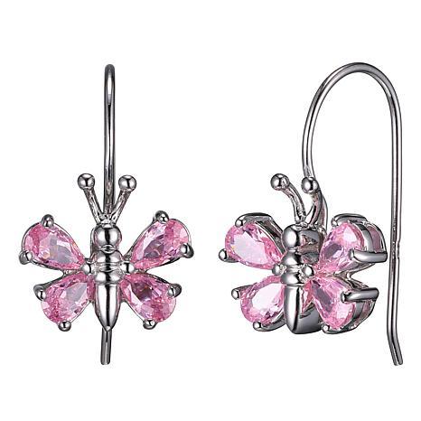 Absolute™ Pink Cubic Zirconia Butterfly Dangle Earrings