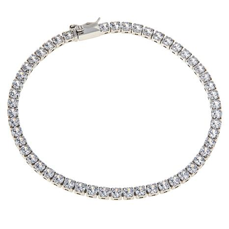 Absolute™ Sterling Silver Cubic Zirconia Round Line Bracelet