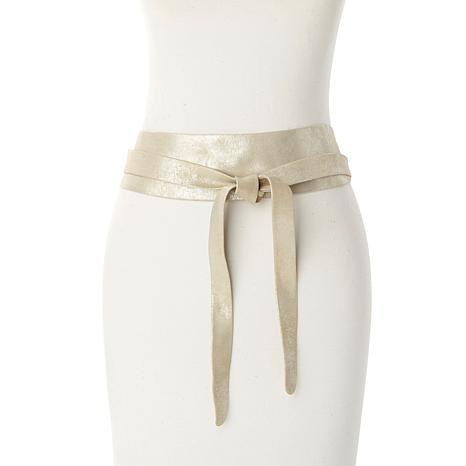 ADA Collection Metallic Argentinean Leather Belt