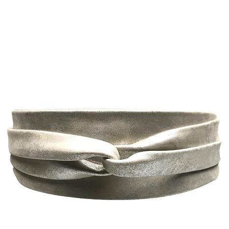 ADA Collection Metallic Argentinean Leather Classic Wrap Belt