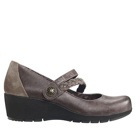 Aetrex® Ivy Leather Mary Jane Wedge