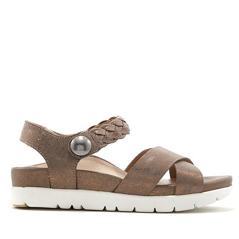 Aetrex® Piper Braided Leather Sandal