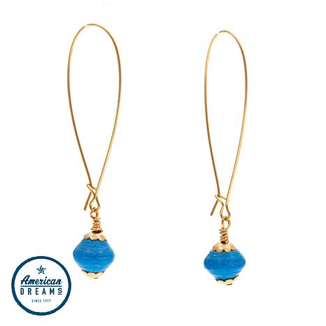 "Akola ""One Hope"" Karatasi Paper Bead Drop Earrings"