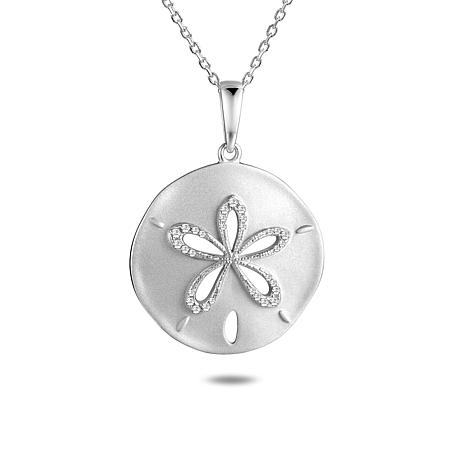 SC6696 4 Sand Dollar Charms Antique Silver Tone