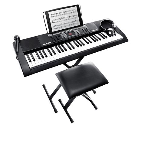Alesis Melody 61-Key Full-Size Portable Keyboard with Stand & Bench
