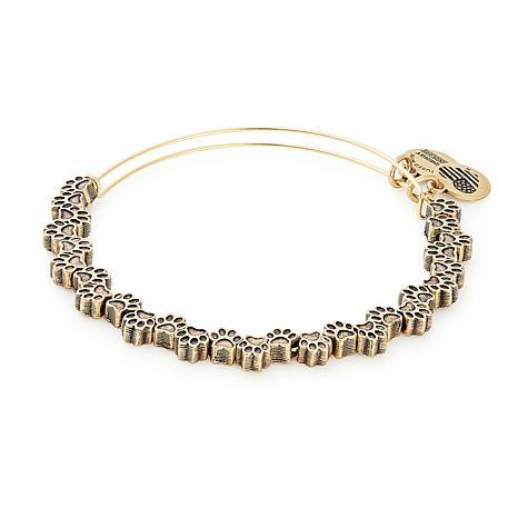 "Alex and Ani ""Paw Print"" Expandable Bangle Charm Bracelet"