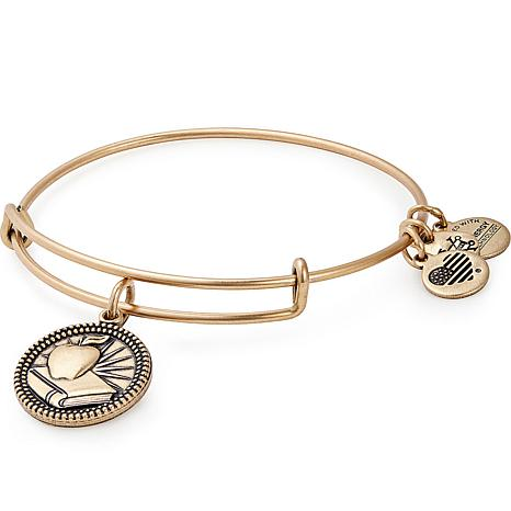 Alex and Ani Teacher Charm Bangle Bracelet