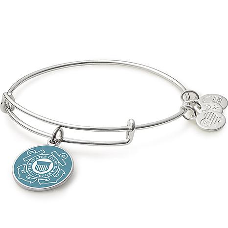 "Alex and Ani ""U.S. Coast Guard"" Expandable Bangle Charm Bracelet"