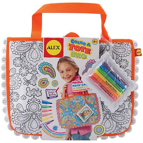 ALEX Toys Color A Tote Bag Kit - Paisley Flower