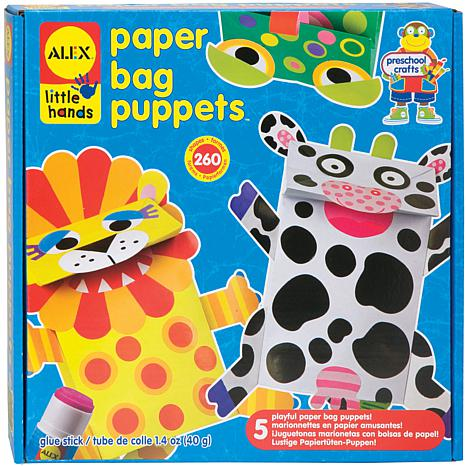 Paper bag puppets kit 7701665 hsn for Alex toys craft color a house children s kit