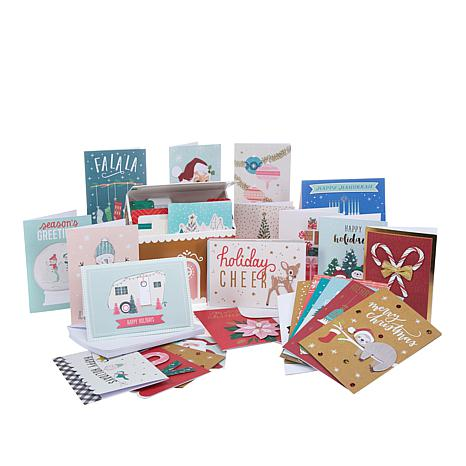 American crafts holiday greeting cards with storage box 8770047 hsn american crafts holiday greeting cards with storage box m4hsunfo