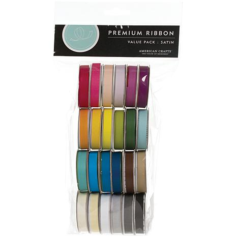 American Crafts Premium Ribbon Value Pack - Solid Satin