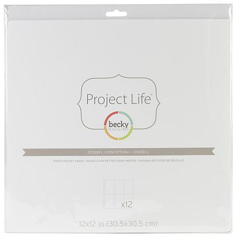American Crafts Project Life Photo Pages 12pk -L
